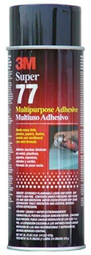 3M Super 77 Multipurpose Permanent Spray Adhesive Glue, Low VOC, Paper, Cardboard, Fabric, Plastic, Metal, Wood, 18 oz