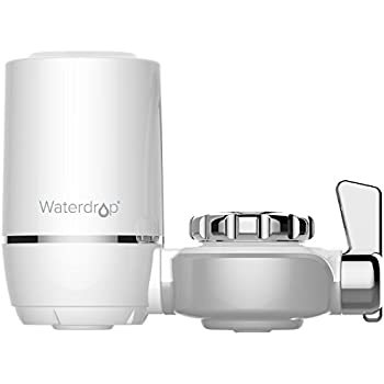 Waterdrop 320-Gallon Long-Lasting Water Faucet Filtration System, Faucet Water Filter, Tap Water Filter, Removes Lead, Flouride & Chlorine - Fits Standard Faucets (1 Filter Included)