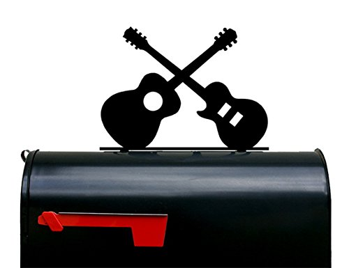 NewnanMetalWorks Two Guitars Mailbox Topper/Plaque / Sign - Acoustic & Electric