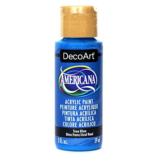 DecoArt Americana Acrylic Paint, 2-Ounce, True Blue Blue 2 Oz Americana Paint