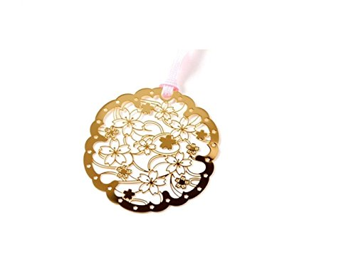 - School Product Metal Round Cherry Blossom Bookmark Mini Brass Hollow Bookmark Page Clip for Kids Women Students Children Student Stationary