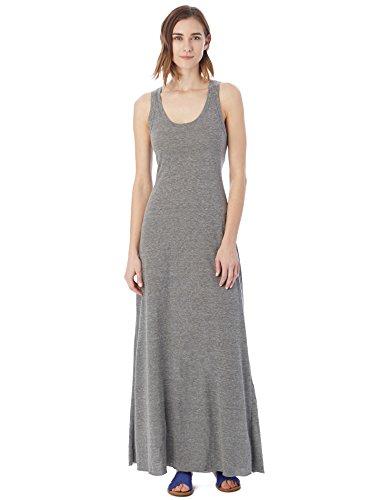 Alternative Women's Racer Back Maxi Dress, Eco Grey, Small