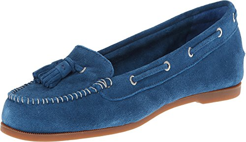 Sperry Top-Sider Women's Sabrina Blue Suede Boat Shoe 8.5 M (B)