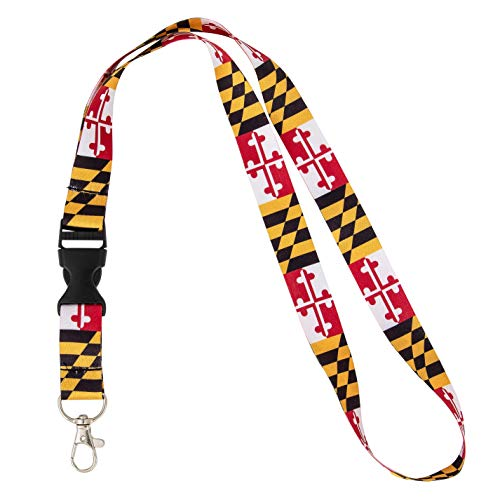 - State of Maryland Flag Lanyard for Keys Keychain Souvenir (Lanyard Flag Design)