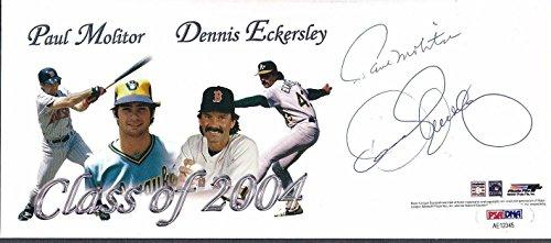 Paul Molitor Autograph (Paul Molitor Dennis Eckersley Signed Envelope Autograph Auto AE12345 - PSA/DNA Certified - MLB Cut Signatures)