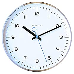 Marksson Crosby Clock 12 Inch Quartz Non-Ticking Silent | Stainless Steel Wall Clock | High End Mechanism | Perfect for Kitchen, Office, Lounge Room and Bedroom.