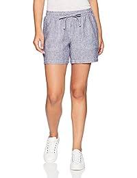 "vtraveler.net Essentials Womens (Null) 5"" Drawstring Patterned Linen Short"