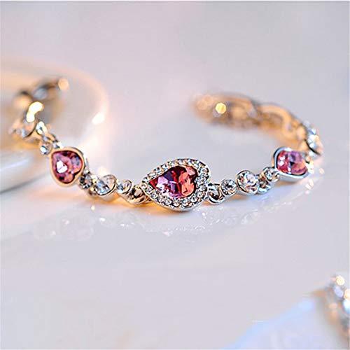 - YASEF Bracelet Crystal Silver Pulseras Ocean Heart Nuevo listado Pulseras de Moda Blue Regalo de Mujer al por Mayor Bracelets Gifts
