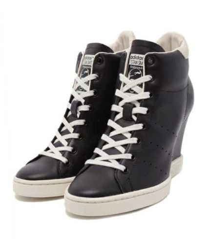 9ab14597013 adidas Womens Originals Stan Smith Up Wedges  Amazon.co.uk  Shoes   Bags