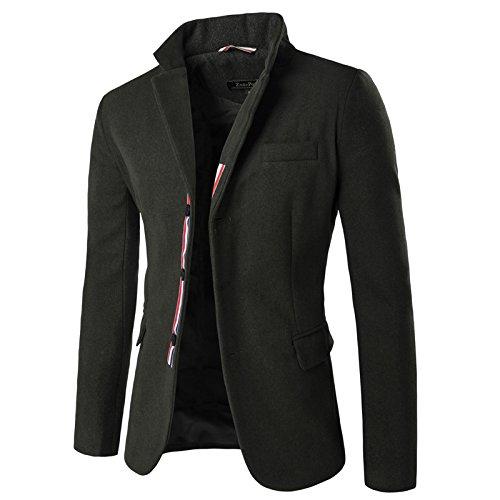 Sndofej Mann, Anzug qiu dongkuan männer Anzug Farbe männer Gelegenheits - Anzug,schwärzlich grün,XXL