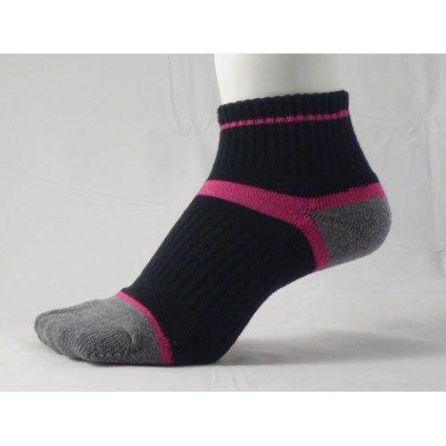 食事を調理する微妙裏切る草鞋ソックス S(22-24cm)ピンク 【わらじソックス】【炭の靴下】【足袋型】
