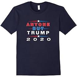 Mens Anyone But Trump 2020 - Anti Trump Election Shirt XL Navy