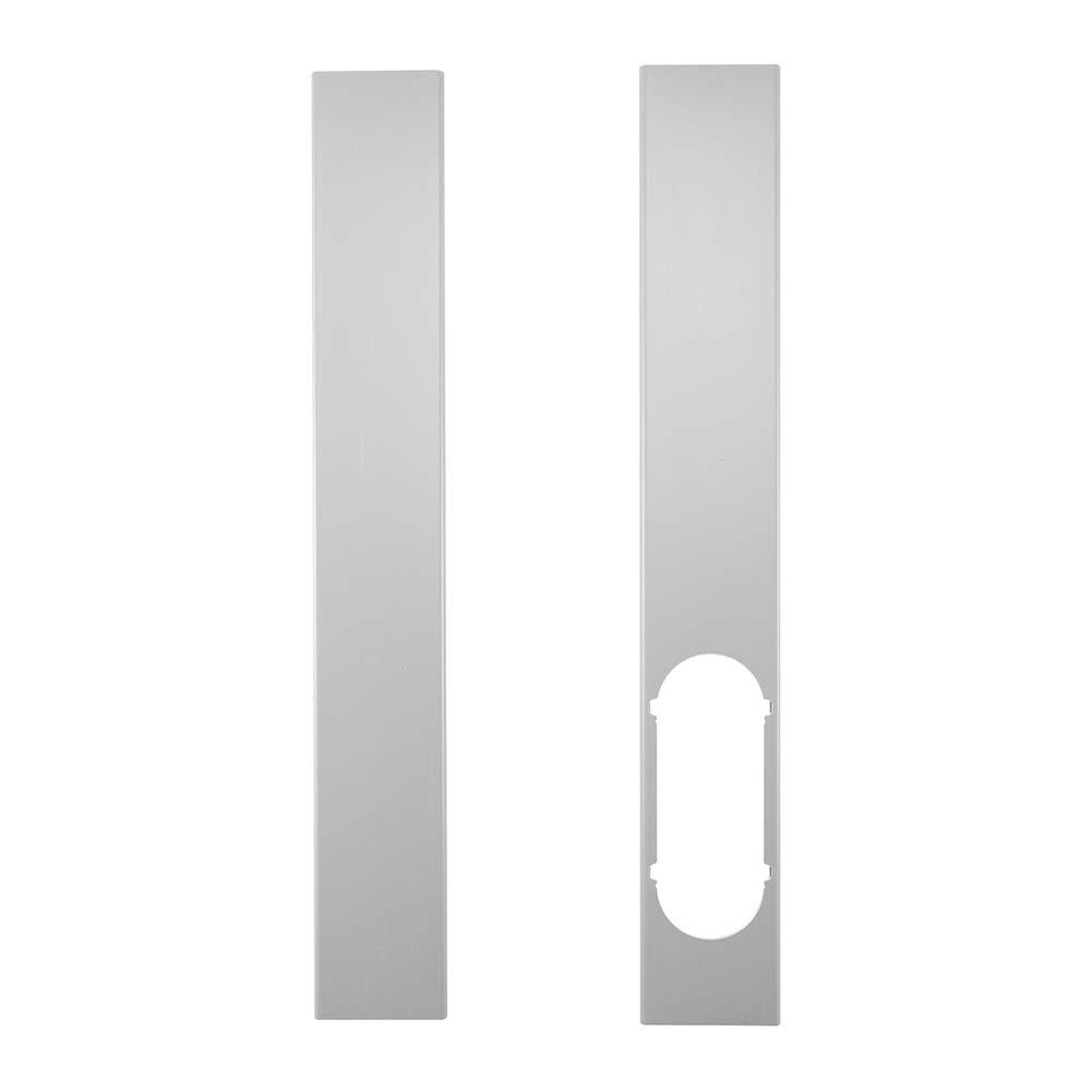 Festnight 2pcs plaque de kit de glissière de fenêtre pour la plaque d'étanchéité de fenêtre réglable pour climatiseur portatif
