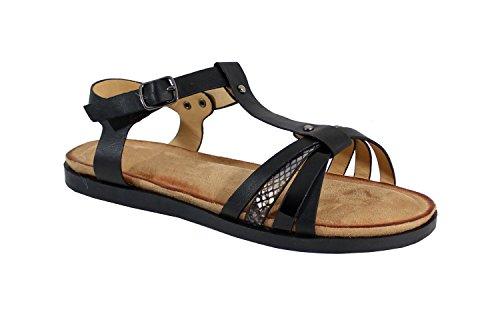 Shoes Negro By Mujer para Sandalias adZwq8A