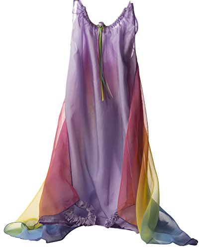 (Sarah's Silks Fairy Dress in Lavender with Rainbow Wings)