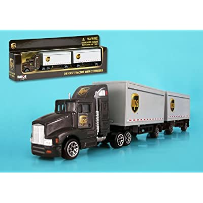 Daron 2011 UPS Tandem Tractor Trailer 1/87 HO Scale Diecast Truck: Home & Kitchen