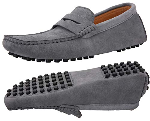 JIONS Men's Driving Penny Loafers Suede Driver Moccasins for sale  Delivered anywhere in USA