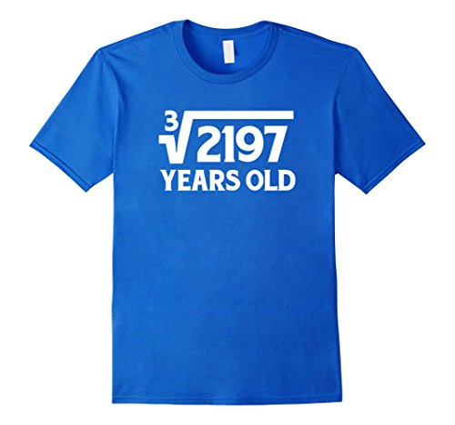 Mens Funny Math Geek 13th Birthday Cube Root T-Shirt 13 Year Old Small Royal (13 Year Old Boy Halloween Costumes Ideas)