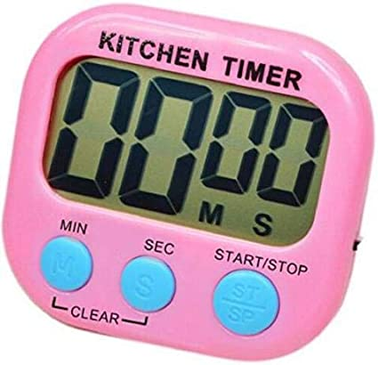 LCD Display Large Timer for Cooking Games Sports Teacher Autism Children Brush Teeth Countdown Digital Kitchen Timer