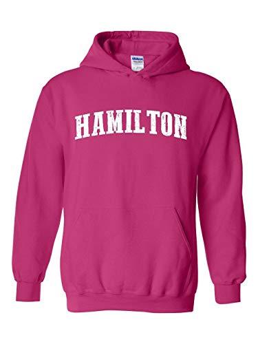 Hamilton City Ontario Canada Traveler Gift Unisex Hoodie (5XLHP) Heliconia Pink]()