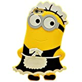 Weiduka® 3D Cartoon Silicone Phone Case Protective Cover for Apple iPhone Se 5 5c 5s 5g (Minions-Maid)