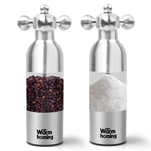 Salt Pepper Grinder Set Warmhoming