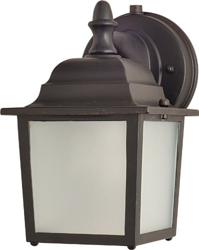 Maxim 86924EB Side Door EE 1-Light Outdoor Wall Mount, Empire Bronze Finish, Frosted Glass, GU24 Fluorescent Fluorescent Bulb , 60W Max., Dry Safety Rating, Standard Dimmable, Glass Shade Material, 1344 Rated Lumens by Maxim Lighting