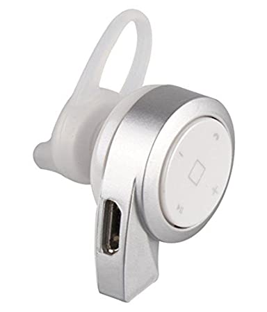 JMD BTER 2017 In The Ear Wireless With Mic Mini Bluetooth Headset   Silver Bluetooth Headsets