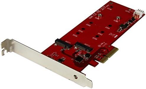 [スポンサー プロダクト]StarTech.com 2x M.2 SSD コントローラカード PCIeインターフェース接続対応 PCIe接続M.2 SATA 3.0 コントローラ NGFFカードアダプタ PEX2M2