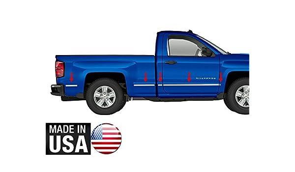 2014-2018 Chevy Silverado Regular Cab 5.8/' Bed Body Side Molding Chrome Trim