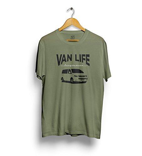"""Studio315 - Herren T-Shirt VW T5 """"Van Life"""" Volkswagen Campervan Retro Design"""