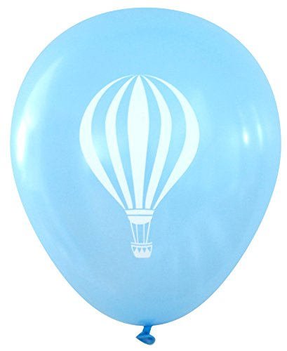 Nerdy Words Hot Air Balloon Design Latex Balloons (16 pcs) (Light -