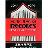 5 x 20 Sharps Hand Sewing Needles Embroidery - Size 3/9