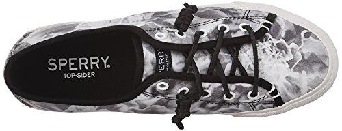 Sperry Top-sider Dames Zeekraal Bloemenprint Fashion Sneaker Zwart / Wit