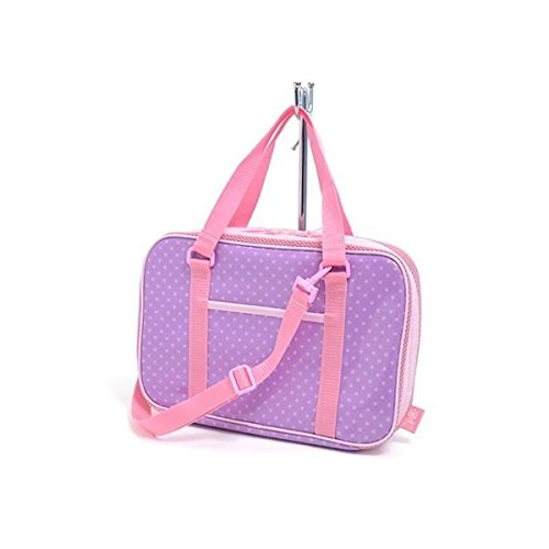 Made in Japan N2203800 (pink dots on purple ground) Kids Calligraphy, penmanship bag rated on style polka dot (bag only) (japan import)