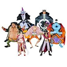 Bandai Tamashii Nations One Piece Seven Warlords of The Sea Chozoukei Damashii Toy Figures, Set of 8 (japan import)
