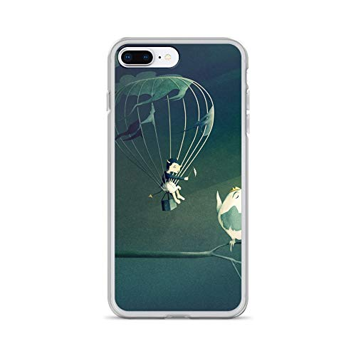 iPhone 7 Plus/8 Plus Case Anti-Scratch Creature Animal Transparent Cases Cover Good Old Fashioned Villain | Digital Art 16 Animals Fauna Crystal Clear