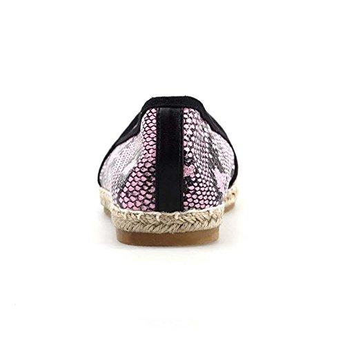 Primavera-verano zapatos de ocio cuerda/Realzando un pedal zapatos/Zapato plano plano Rosa