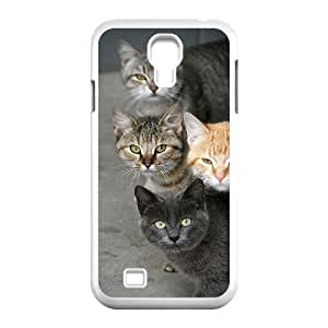 Cute Kitten Cat Unique Design Cover Case with Hard Shell Protection for SamSung Galaxy S4 I9500 Case lxa#439265