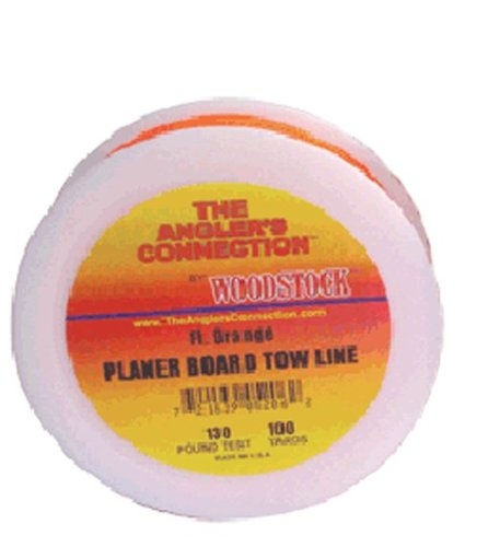 Dacron Planer - Woodstock 130-Pounds Planer Board Line, 100 Yards, Orange