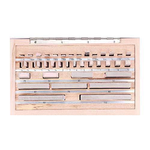 BAOSHISHAN 38 Pcs Gauge Block Set Metric Precision 0.005 Calibration Block with Bearing Steel Material for Caliper/Micrometer