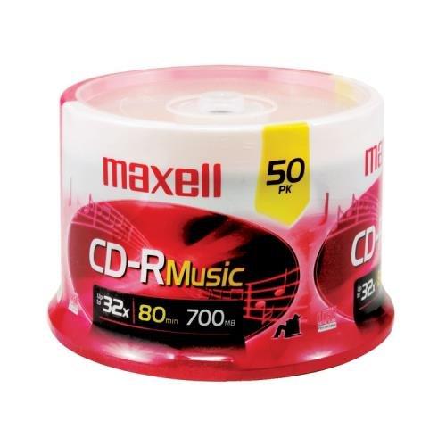 Maxell 625156 - Cdr80Mu50Pk Music Cd-Rs