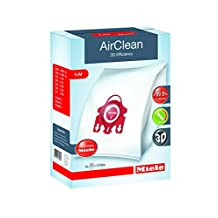Miele Air Clean 3D Efficiency Dust Bag, Type FJM, 4 Bags and 2 Filters