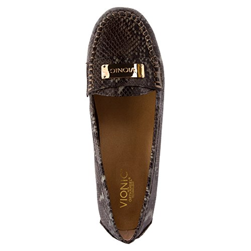 Vionic Womens Easy Sydney Loafer Brown Snake