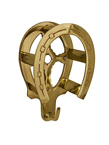 Tack Room Studio Brass Horseshoe Bridle Rack- Brass Finish
