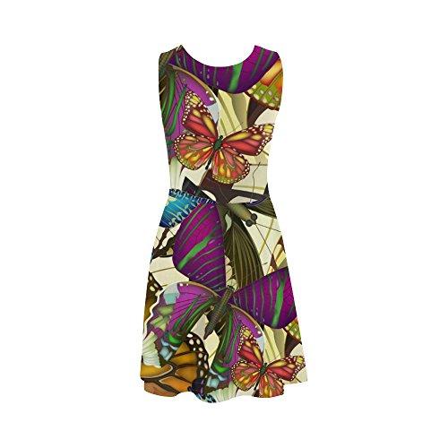 Women Story Butterflies Sundress Seamless Summer Sleeveless Women D Dress With Dress Pattern colorful 51wxBx