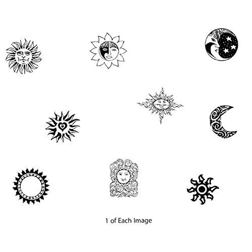 Iwata-Medea Temporary Tattoo Transfer Sheet, Celestial
