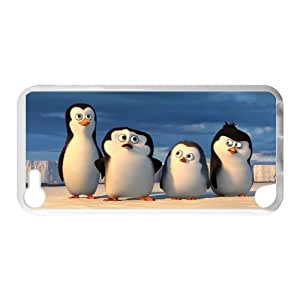 Hoomin Funny Penguins of Madagascar Beach Ipod Touch 5 Cell Phone Cases Cover Popular Gifts(Laster Technology)
