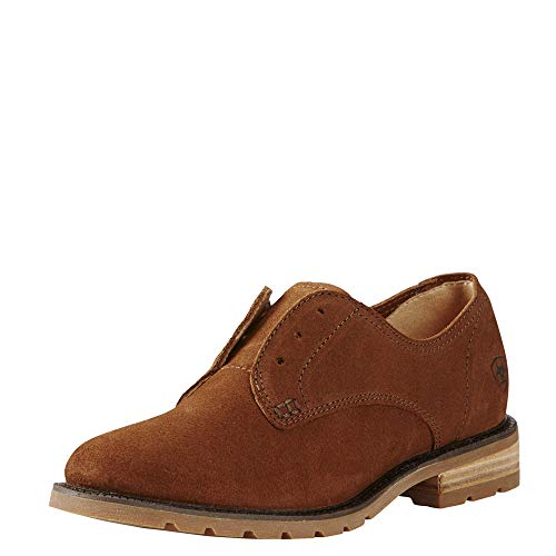 ARIAT Women's Vale Laceless Oxford,Bronzed Brown Leather,US 6.5 - Laceless Oxford
