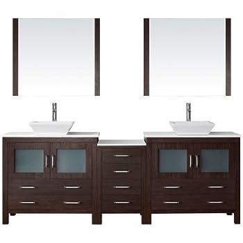 Virtu usa kd 70066 wm es modern 66 inch double sink - 66 inch bathroom vanity double sink ...